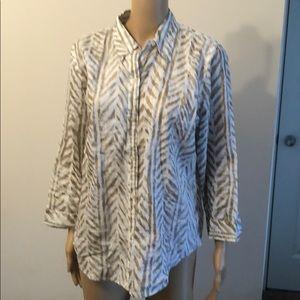 Ralph Loren linen blouse .Size L
